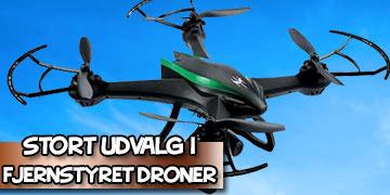 Stort udvalg i fjerstyret droner