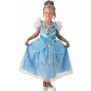 12bbaa732f31 Disney Princess Askepot Glimmer kostume 128cm (7-8 år)