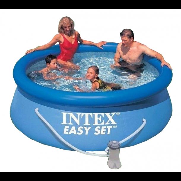 intex easy set pool 244cm inkl filter og pumpe 28112. Black Bedroom Furniture Sets. Home Design Ideas