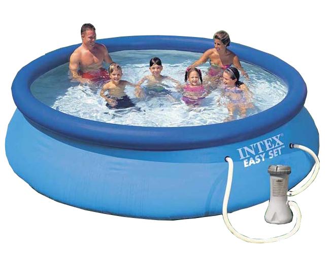 Pæn Intex Easy Set Pool 366cm inkl. filter og pumpe (28132) | MIDhobby.dk TH79