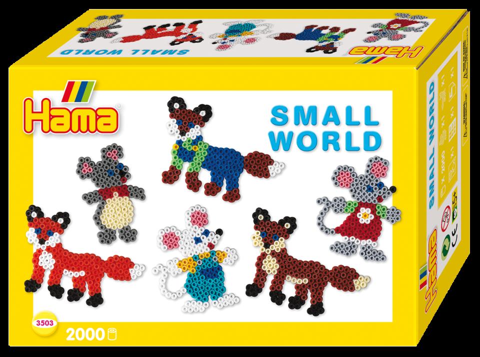 Hama Midi Ask Small World mus räv (3503) - hama (pärlor)  7b2f577f9bdaf