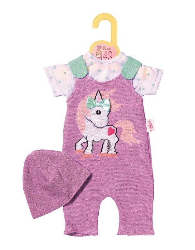 Baby Born, Dolly Moda smækbukser, t shirt og hat, 43 cm