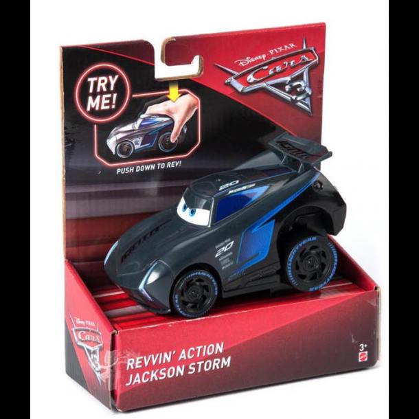 3 Jackson Storm Push N Go Bil Ca. 14cm (DVD34), Cars